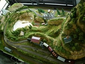 dense forest theme ho scale model railroad layout