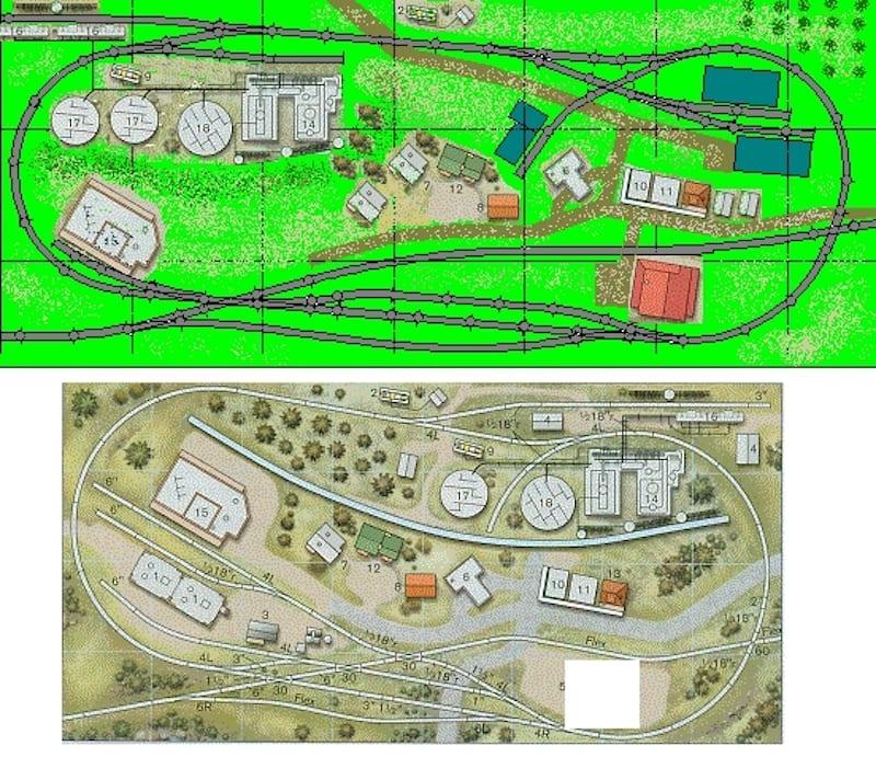 2x4 n scale track plan design