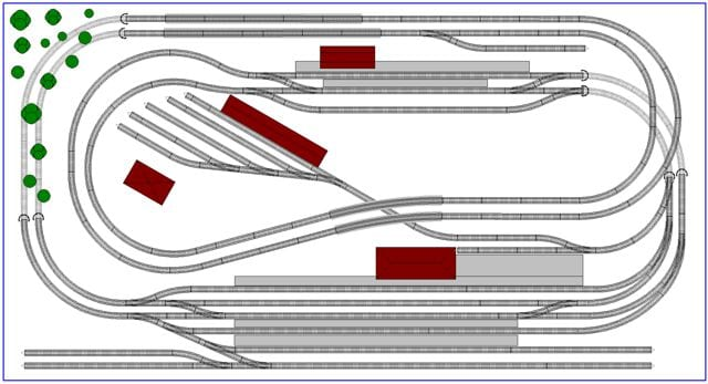 4x8 N scale rectangle track plan type