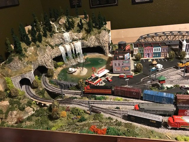 4x8 n scale mountain layout with plywood base
